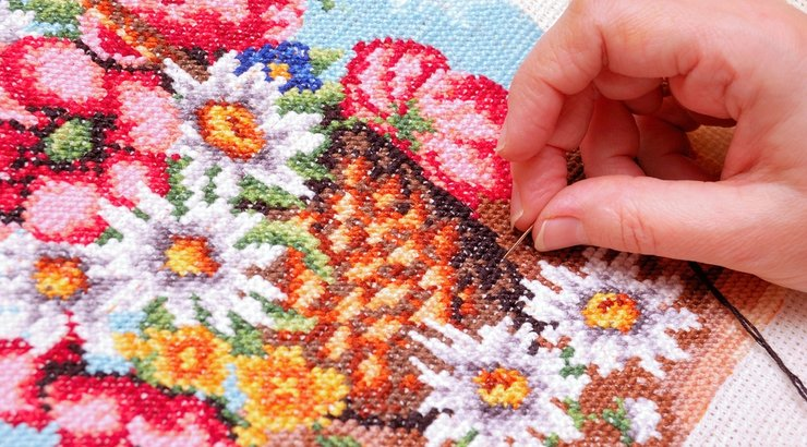 Видео уроки вышивка цветов